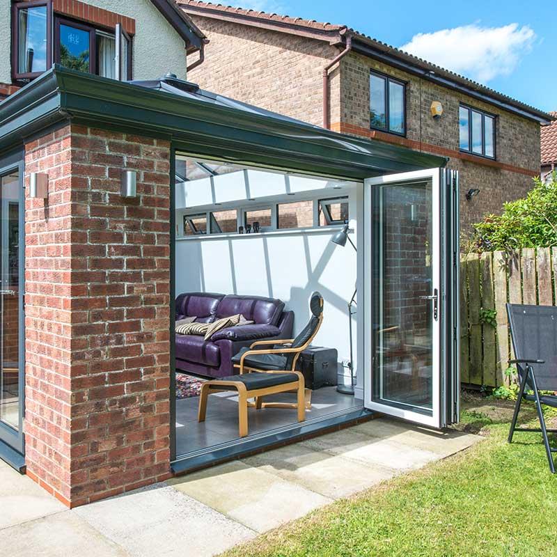 Bi Folding Garage Door: Jewel Windows