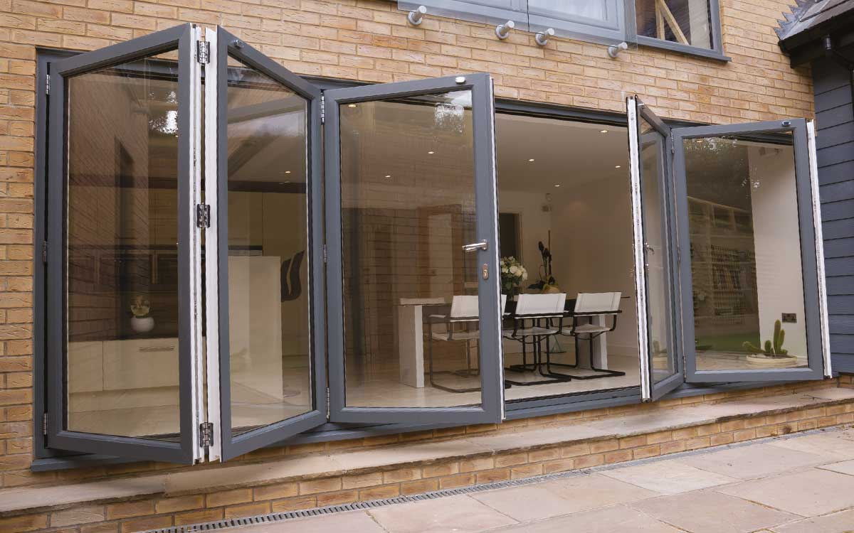 Bi fold doors aldershot surrey jewel windows for Upvc folding doors